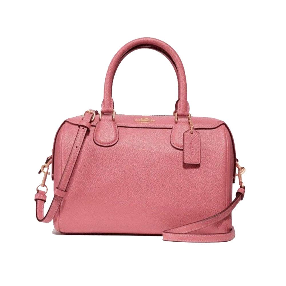 a641d98aa6 Coach Glitter Crossgrain Leather Mini Bennett Satchel Peony F31377 IMPEO