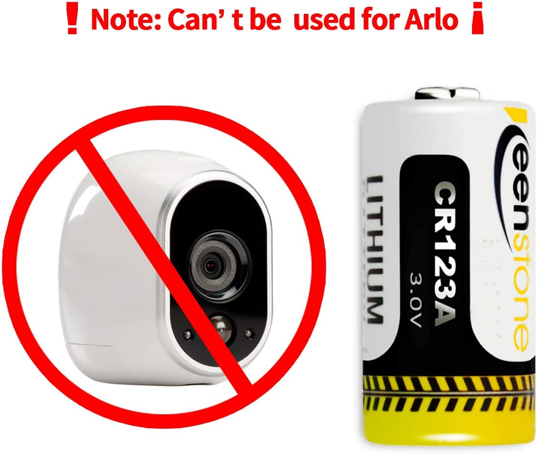 Microphones and More CR17345 1600mAh Lithium Disposable Batteries Low Self-Discharge for Flashlight Not Compatible with Arlo Cameras Keenstone 18 Pack CR123A 3V Lithium Battery Camera