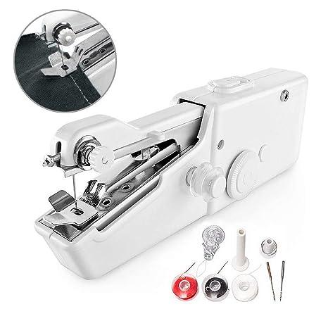 Mini Máquina de Coser Portátil - Handy Stitch Mano Herramienta de Puntada Eléctrica Rápida para Telas