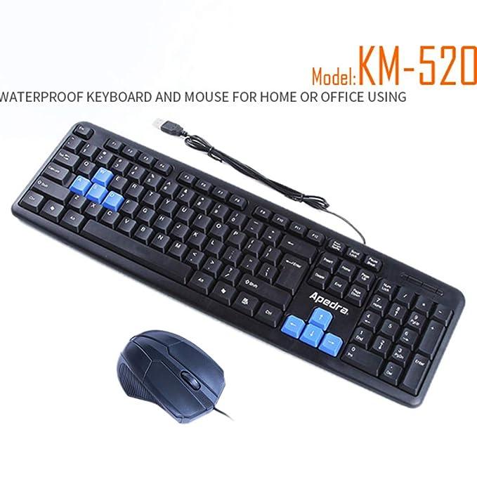 Amazon.com: Gankmachine Teclado con Cable iMice KM-520 USB ...