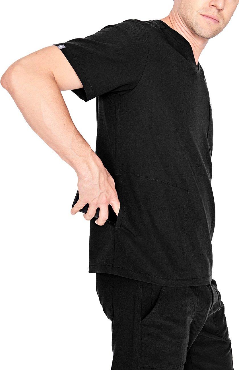 FIGS Medical Scrubs Men's Chisec Three Pocket Top (Black, XS) by FIGS (Image #3)