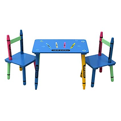 Astonishing Oypla Childrens Wooden Crayon Table And Chairs Set Kids Room Furniture Caraccident5 Cool Chair Designs And Ideas Caraccident5Info