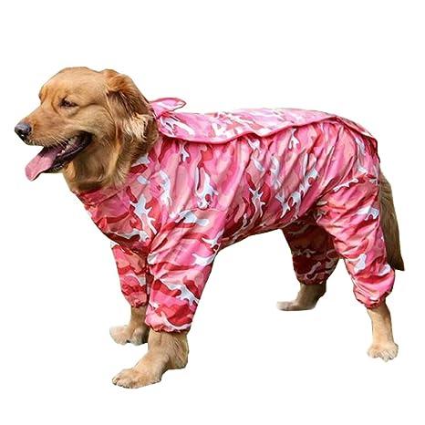 Impermeable para Mascotas, Legendog Impermeable para Perros Impermeable Ropa para Mascotas Transpirable para Perros Grandes
