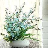 SituMi Artificial Fake Flowers DanceOrchidKit Modern Minimalist StylePotted PlantsDecorationBlue