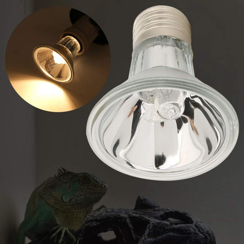 Fdit Socialme-EU E27 220 V Reptil para Mascotas Proyectores Hal/ógenos L/ámpara de Calentamiento de Espectro Completo Bombilla UVA UVB 50W