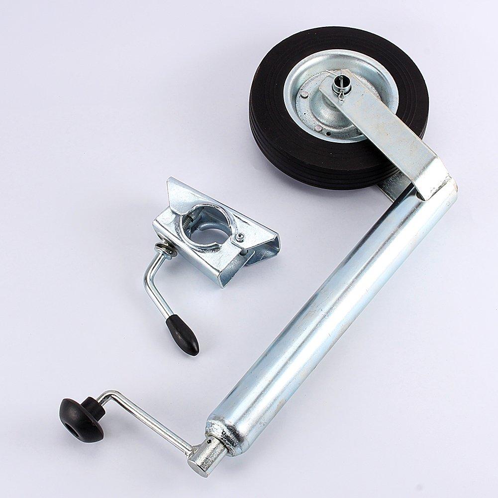 Jockey Wheel Metal Jockey Wheel 48 mm Load 150 kg Heavy Duty Cast Clamp for Trailer