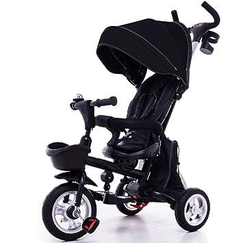TH Triciclo Carro De Bebe Triciclo para Niños Plegable 3 In1 con Manija De Empuje Extraíble Toldo 18-60 Meses,A: Amazon.es: Jardín
