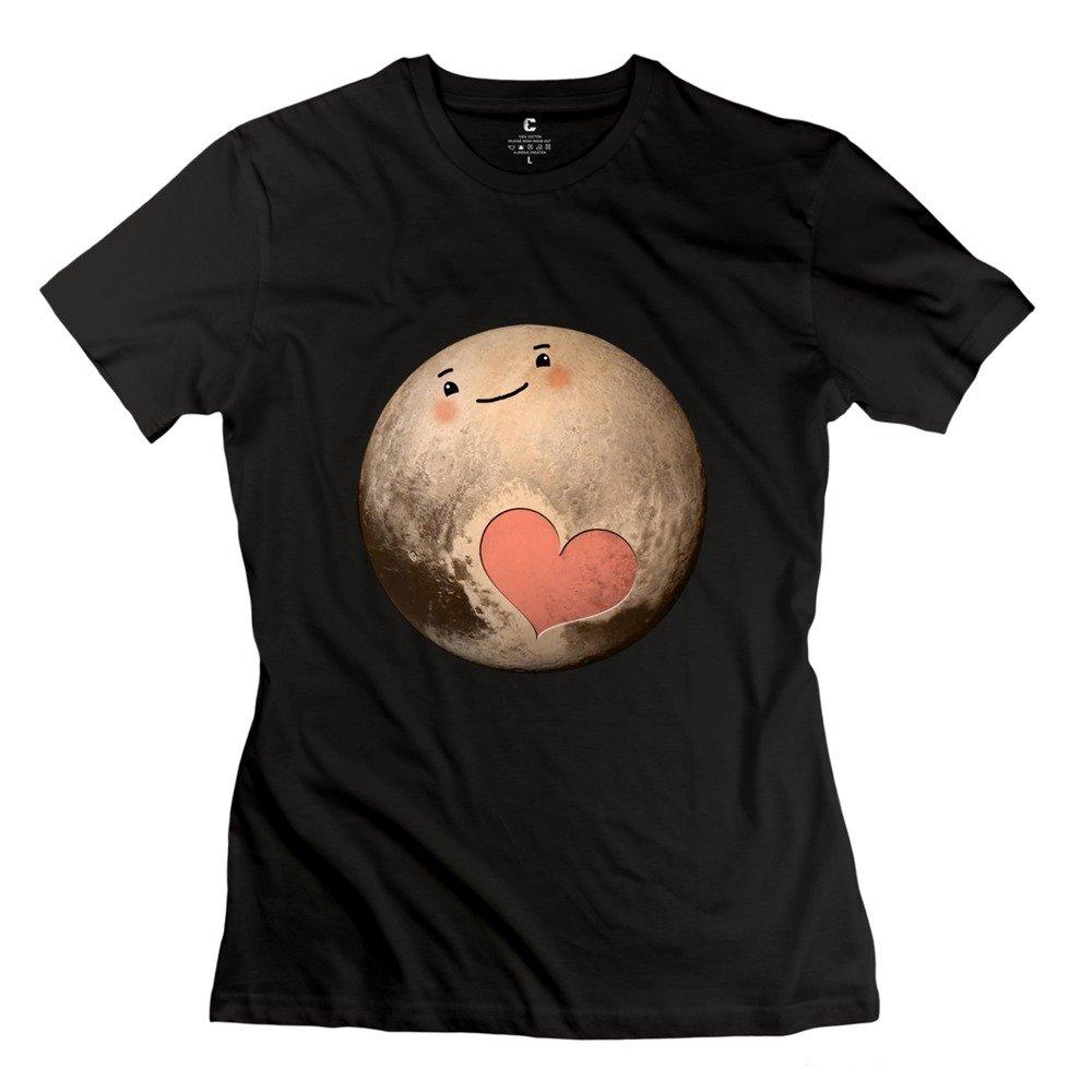 AOPO Pluto Cute Heart T Shirt For Women