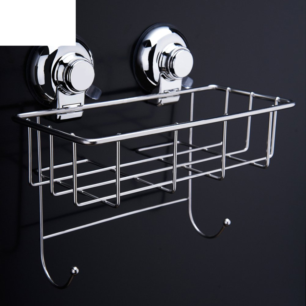 50%OFF wall-mounted toilet drain shelf/ kitchen storage basket/Powerful cupule stainless steel bathroom rack-A