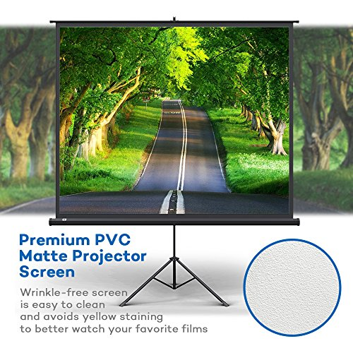 Projector Screen with Stand, TaoTronics Indoor and Outdoor Movie Screen 100 Inch Diagonal 4:3 with a Premium PVC Matte Design (Wrinkle-Free, Easy to Clean, 1.1 Gain, 160 Degree Viewing Angle) Photo #9