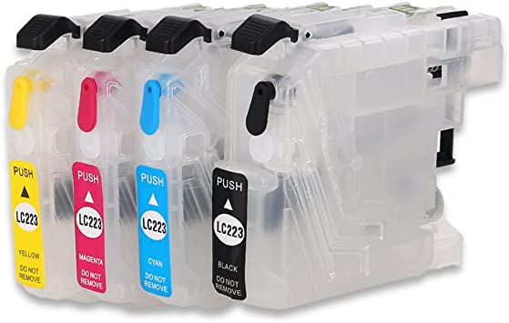 Refillable Ink Cartridge compatible with LC223 Cartridge MFC-J5320DW MFC-J4620DW