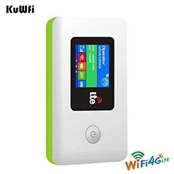 KuWFi PARTENAIRE WiFi Hotspot Bolsillo 100 Mbps Cosido Les móvil inalámbrico portátil (Wi - Fi con módem 4 G LTE Router WiFi con Tarjeta SIM Slot ...
