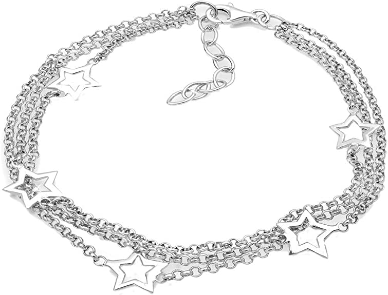 Elli Armband Damen Stern Symbol Astro 3 lagig in 925 Sterling Silber