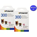 2 Pack Of Polaroid PIF-300 Instant Film for 300 Series Cameras + DBRoth Micro Fiber Cloth