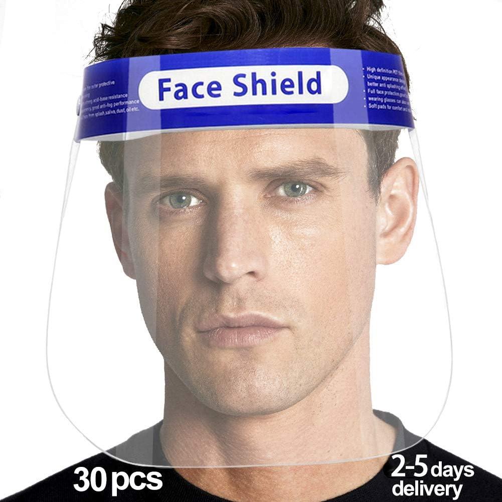 Full Face Eye Protection Safe Shield 10 Reusable Face Shield Transparent Windproof Dustproof Hat Shield Protective Visor