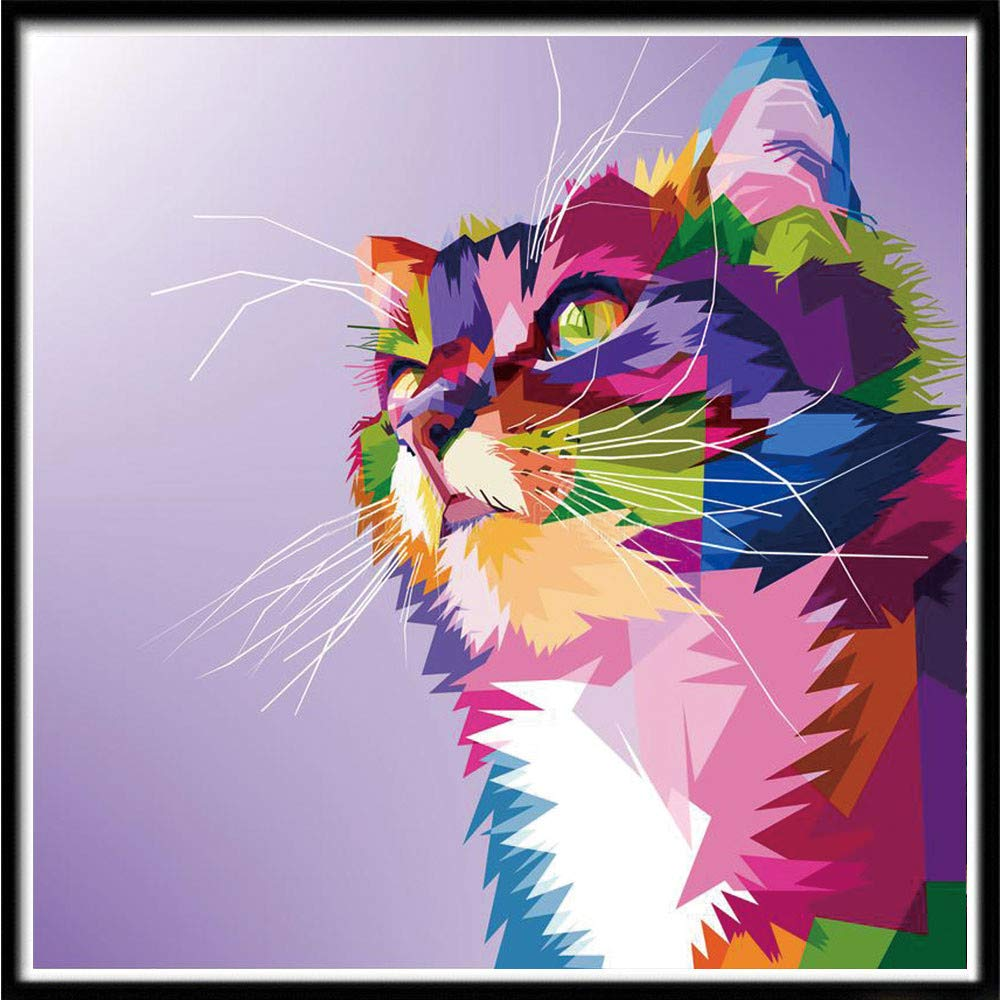 5D DIY Diamond Painting Fortune Cat Embroidery Cross Stitch Art Hanging Decor a3