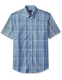 Haggar Men's Short Sleeve Gradient Plaid Shirt