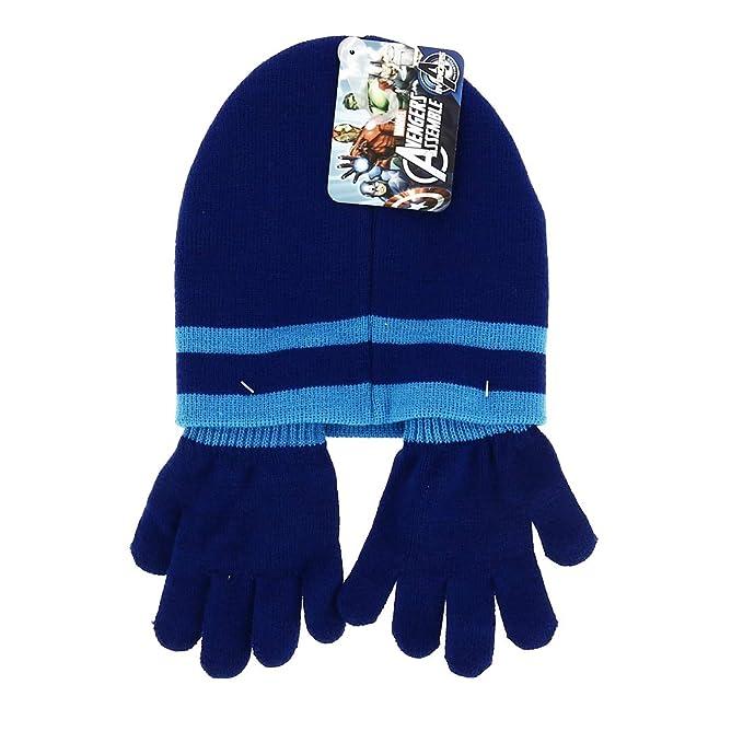 Avengers - Set Bonnet Gants tricoté - Bleu, Taille Unique  Amazon.fr   Vêtements et accessoires 9fc267c61e4