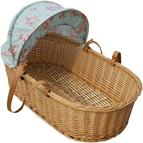 GOUO@ Baby Moses Basket Infant Schlafkorb Portablebaby Wiege Bett Waffel Auto Outing Basket F/ür 0-6 Monate
