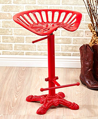 (The Lakeside Collection Tractor Seat Stools - Red)