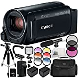 Canon VIXIA HF R82 Camcorder 13PC Accessory Bundle - Includes 64GB SD Memory Card, 3 Piece Filter Kit (UV, CPL, FLD), More - International Version (No Warranty) -  SSE