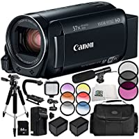 Canon VIXIA HF R82 Camcorder 13PC Accessory Bundle – Includes 64GB SD Memory Card, 3 Piece Filter Kit (UV, CPL, FLD), MORE - International Version (No Warranty)