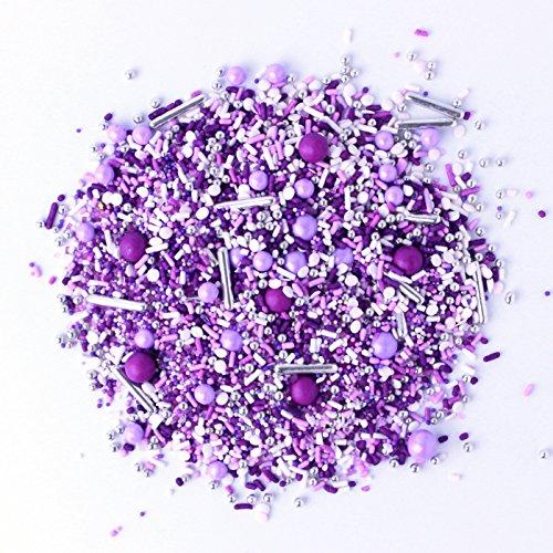 Perfectly Purple Sprinkle Mix   Valentines Day   Princess  Bridal Shower  Wedding Sprinkles, 4OZ