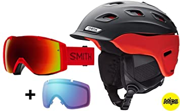 Smith Set Vantage Mips Casco de esquí Matte Black Fire + Smith I/O Gafas