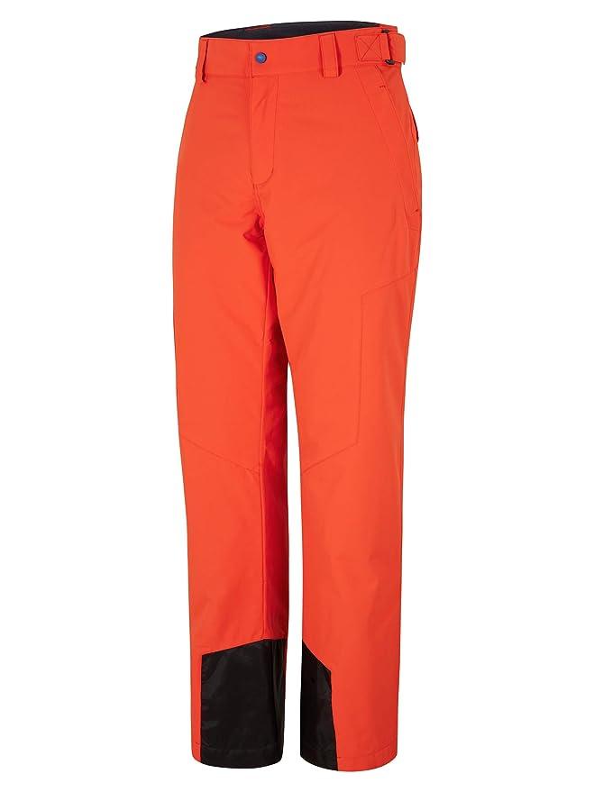 Ropa de esquí neón pantalón naranja neón