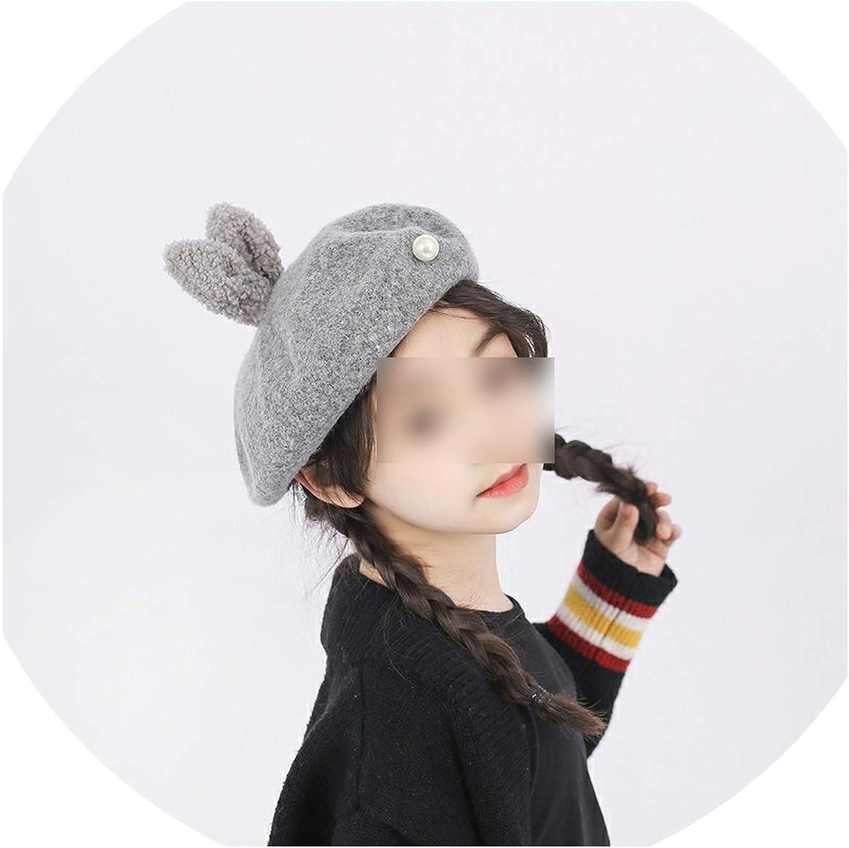 Cute Rabbit Ear Pearl Beret...