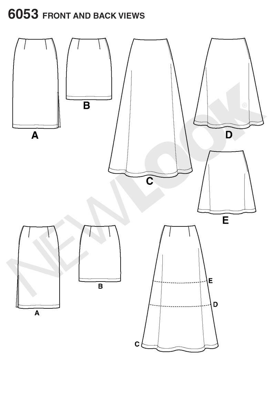 New Look Tamaño 6053 8/10/12/14/16/18 patrones de costura para ...