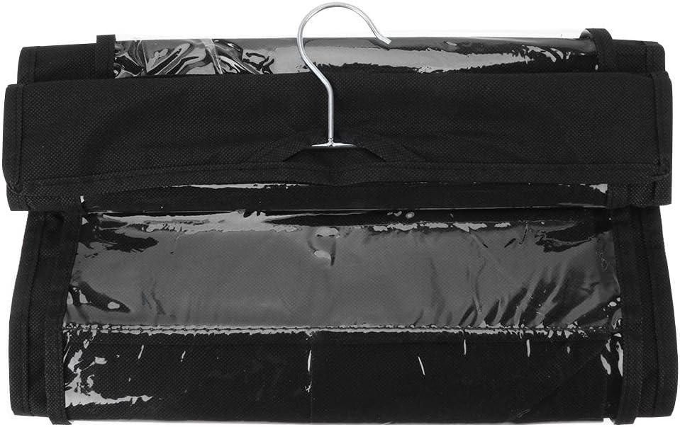 UEB 6 Poche Organiseur De Sac Clair Armoire Rangement /À Suspendre Sacs /À Main Pochette DEmbrayage Noir