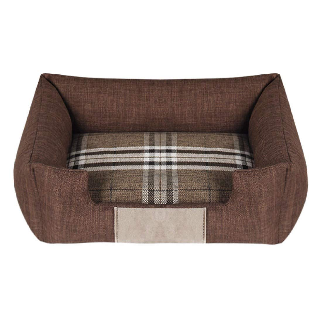 Coffee 72x52 Coffee 72x52 Pet Dog Cat House Bed Four Seasons Kennel Washable bite cat and Dog Pets nest,Coffee,72x52