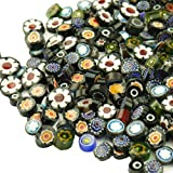 LIEOMO 100g appr. 160Pcs Black Colors Venice Hand Fusible Glass Beads Mosaic Charms