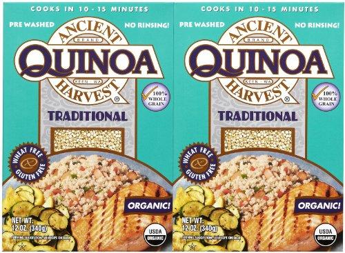 Ancient Harvest Organic Quinoa, Traditional, 12 oz, 2 pk (Ancient Vines)