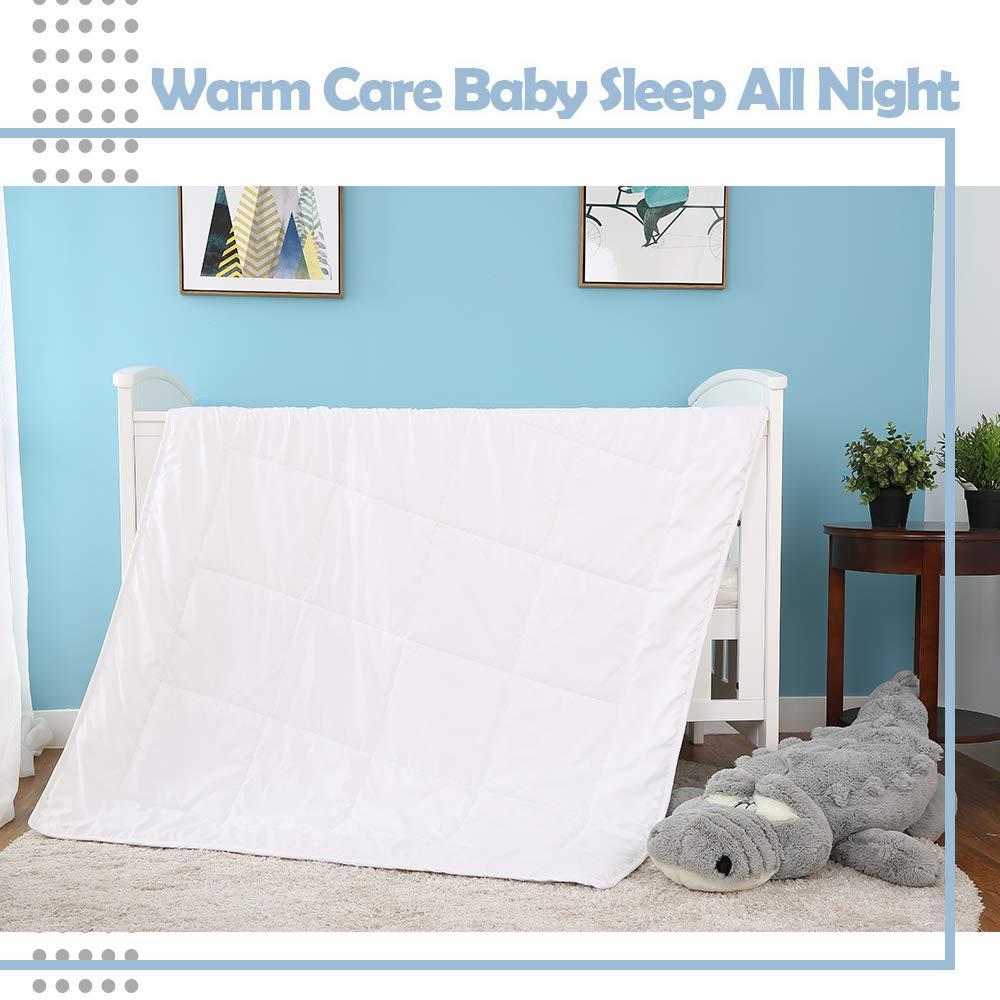 Baby Kissen Kinderzimmer Kinderbett Bettw/äsche 30x50cm Kinder Kissen Blau Babybett Bambus Baumwolle Musselin Kissenbezug Abnehmbar f/ür einfaches Waschen