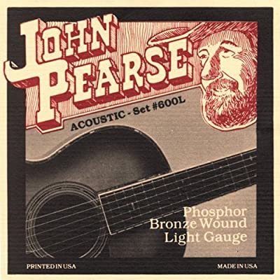 John Pearse 600L Phosphor Bronze Acoustic Guitar Strings from John Pearse.
