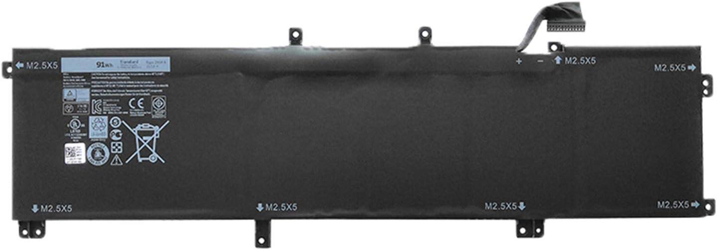 SUNNEAR 245RR 91WH Battery Replacement for Dell XPS 15 9530 Precision M3800 Laptop T0TRM H76MV 7D1WJ 11.1V