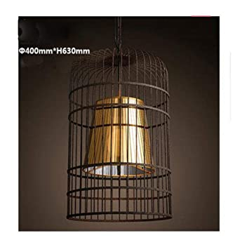 Jaula; Industrial Birds Rescue Cages Lampshade Chandelier Lamp. 8 ...