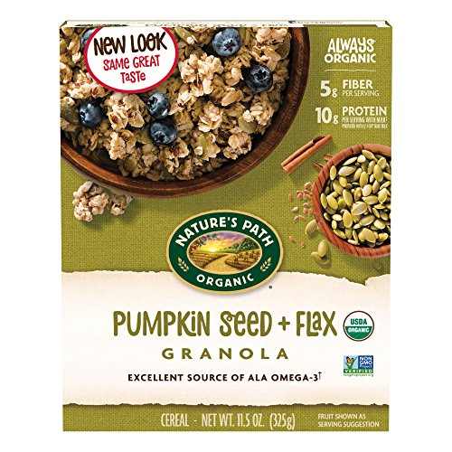 - Nature's Path Flax Plus Pumpkin Flax Organic Granola, 11.5 oz (Pack of 2)