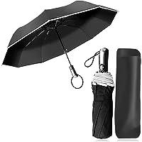 Paraguas Compacto y Resistente al Viento, Paraguas Plegable Paraguas Automático con Apertura y Cierre Automático…