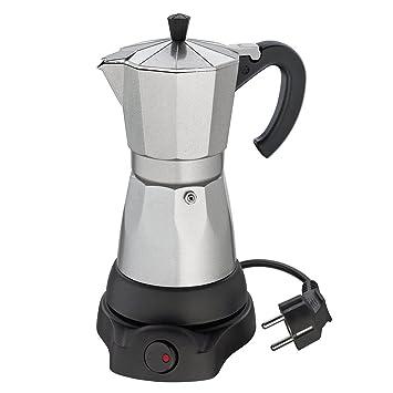 Cilio 273700 Classico - Cafetera eléctrica (6 tazas), diseño de cafetera italiana, color plateado y negro: Amazon.es: Hogar