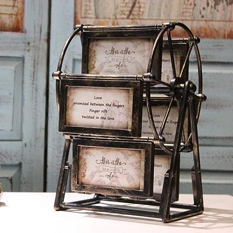 YL LY Ahora 5 Pulgadas Rueda de Ferris combinación Foto Marco péndulo vendaval Retro Coche Foto