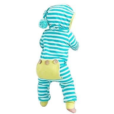 34f106b49 Amazon.com  Sharemen Baby Boy Girl Cute Hooded Romper Bodysuit ...