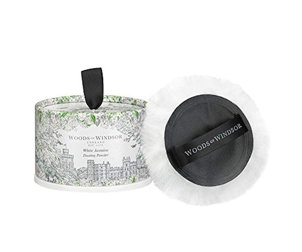 Woods of Windsor White Jasmine Body Dusting Powder with Puff for Women, 3.5 Ounce by Woods of Windsor