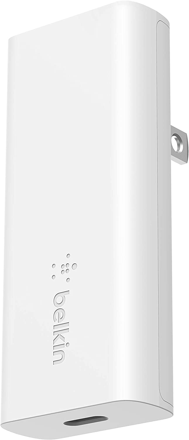 Belkin USB C GaN Wall Charger 20W PD USB-C Power Delivery for iPhone 12, 12 Pro, 12 Pro Max, 11, XS, iPad, AirPods, and More