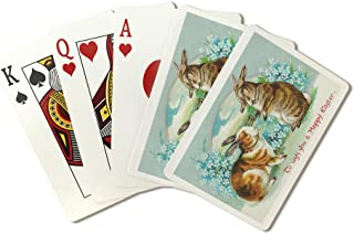 product image for Bunnies Wishing A Happy Easter (Playing Card Deck - 52 Card Poker Size with Jokers)