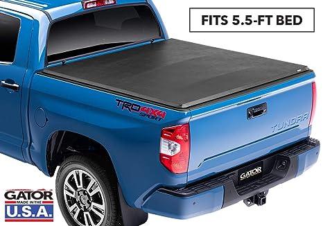 Tundra Tonneau Cover >> Gator Etx Soft Tri Fold Truck Bed Tonneau Cover 59406 Fits Toyota Tundra 2014 19 5 1 2 Ft Bed Without Rail System