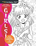 img - for The Manga Artist's Coloring Book: Girls!: Fun Female Characters to Color (Drawing with Christopher Hart) book / textbook / text book