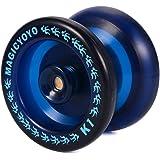 Magic YOYO Balle YoYo professionnelle K1 (ABS, bleu) + 5 Cordes + Gant, Grand Jouet Cool Cadeau pour les Amis des enfants TH358